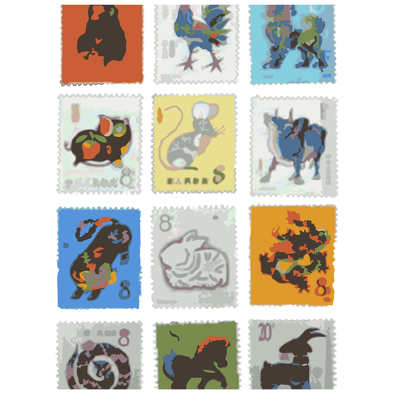 中国切手干支セット 12種 168,000で買取り成立!